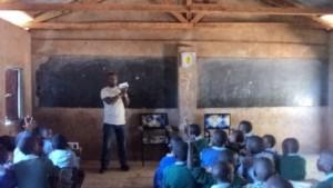 Ken engaging the kids at masewani COM