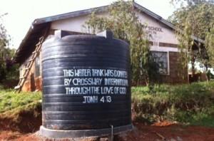 New water tank at Githungungu Primary School COM