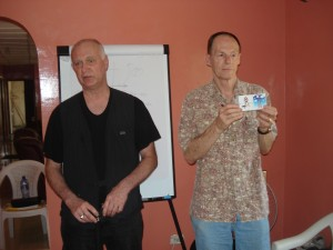 Teaching the gift cube to the Pastors, with Dean.