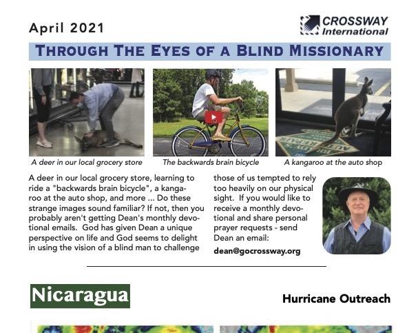 Spring 2021 Prayer Letter for CrossWay International